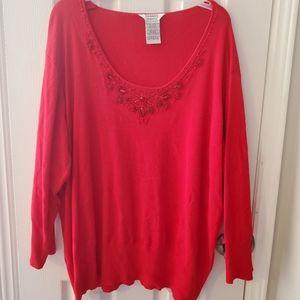 26/28w red sweater